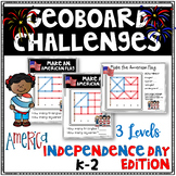 Independence Day Geoboard Geometry Challenges - Task Cards-Fine Motor Skills