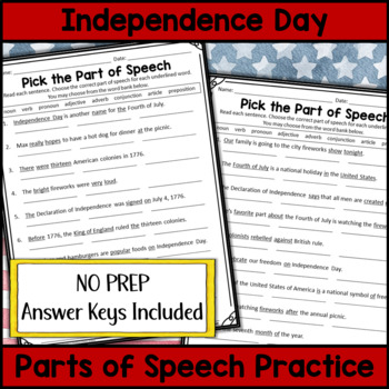 Independence Day Grammar (4th of July)