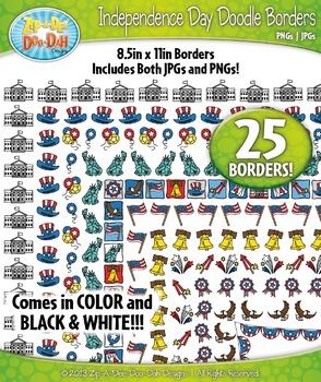 Independence Day Doodle Frame Borders {Zip-A-Dee-Doo-Dah Designs}