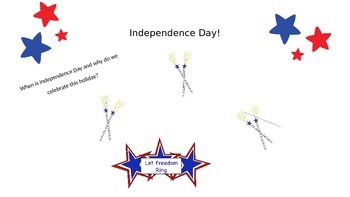 Independence Day Lesson  A Special Education Interactive Lesson