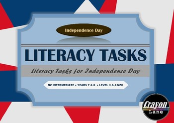 Independence Day Literacy Cards/ 18 Independence Day Independent Activities