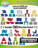 Independence Day Math Number Bonds Clipart {Zip-A-Dee-Doo-Dah Designs}