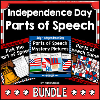 Independence Day Parts of Speech BUNDLE