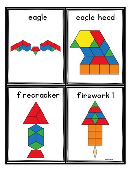 Independence Day Pattern Blocks Mats