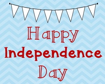 Independence Day Poster, Class Decor, Holiday Sign, Bulletin Board