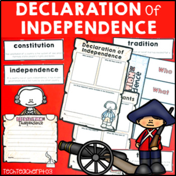 Declaration of Independence Research Pack: Writing, Displays, Writing and more!