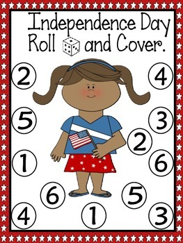 Independence Day Roll and Cover Games