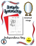 Independence Day - Simple Symmetry  Mirrored Image - Draw