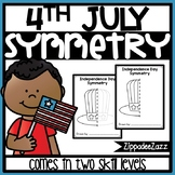 Independence Day Symmetry Drawing Activity for Art and Math