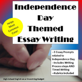 Independence Day (Fourth of July) Theme Essay Writing, w Rubrics & Printables