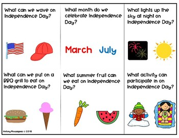Independence Day Wh-Questions Freebie