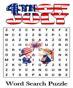 Independence Day Word Search Puzzle