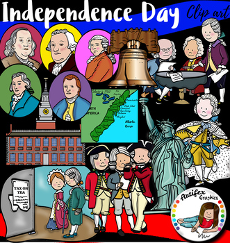Independence Day and 4th of July clip art