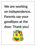 Independence Door Sign