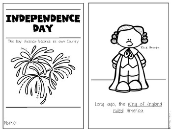 Independence Day 4th of July {History Reader} Kindergarten & First Grade