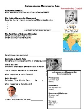 Independence Movements in Asia, Gandhi