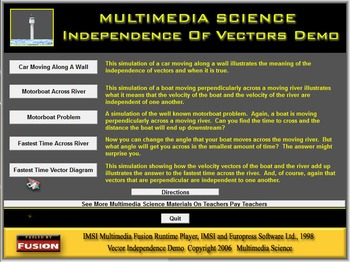 Physics - Independence Of Vectors Software