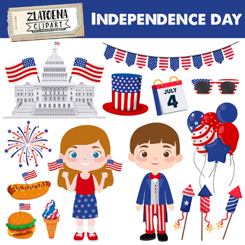 Independence day clipart 4th of July Clipart Independence graphics American USA