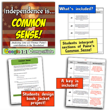 """Independence is """"Common Sense!""""  Examine Paine's Contribution to the Revolution!"""