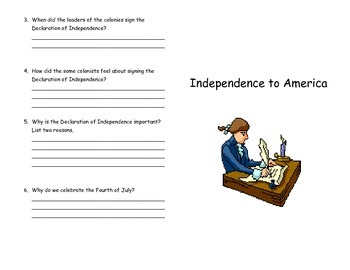 Independence to America Mini-Book