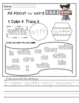 Independent Activities- High Frequency Words