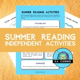 Independent Activities for Summer Reading