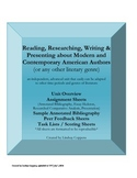 Independent American Literature Reading, Research, & Comparative Analysis