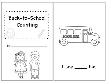 Independent Back-to-School Counting Reader