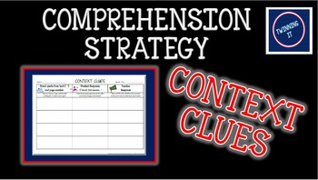 Context Clues Independent Book Activity Graphic Organizer