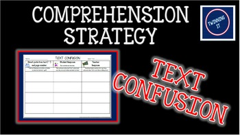 Text Confusion Independent Book Activity Graphic Organizer
