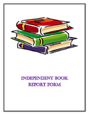 Independent Book Report Form