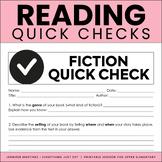 Independent Reading Quick Checks   Reading Response Tasks