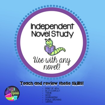 Independent Student Choice Reading Project~Novel Study & Booktalk for ANY NOVEL!