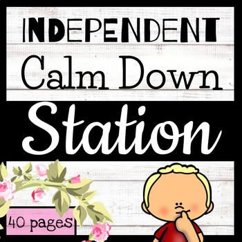 Independent Calm Down Station // Workbook // 40 + Pages