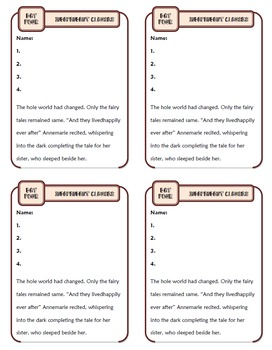 Independent Clauses: Ten-Minute Grammar Unit #11