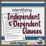 Independent and Dependent Clauses Handout and Practice Worksheets