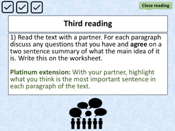Independent Close Reading - full lesson