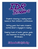 Independent Daily Reading: IDR Binders / Reader's Notebook