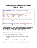Independent & Dependent Clauses: Examples and Practice