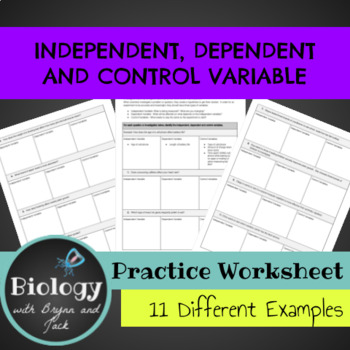 Independent, Dependent & Control Variable Practice