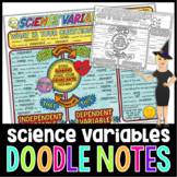 SCIENCE VARIABLES SCIENCE DOODLE NOTES, INTERACTIVE NOTEBOOK, MINI ANCHOR CHART