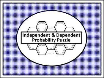 independent dependent probability puzzle by activities by jill tpt. Black Bedroom Furniture Sets. Home Design Ideas