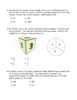 Independent & Dependent Probability Quiz With Predictions