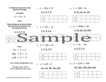Independent & Dependent Variable Mini Lessons & Homework: Levels 5 - 8