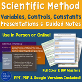 Independent & Dependent Variables, Controls, Constants, Hypothesis Writing
