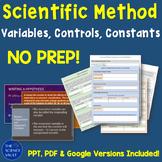 Scientific Method Variables, Controls, Constants, Hypothesis Writing