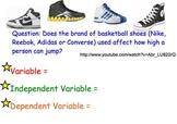 Independent & Dependent Variables - Presentations, Worksheets