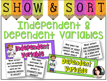 Independent & Dependent Variables Sorting Activity *Scientific Method Practice*