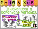 Independent & Dependent Variables Sorting Activity *Scientific Method Practice*