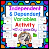 Independent and Dependent Variables Activity Task Cards Ma